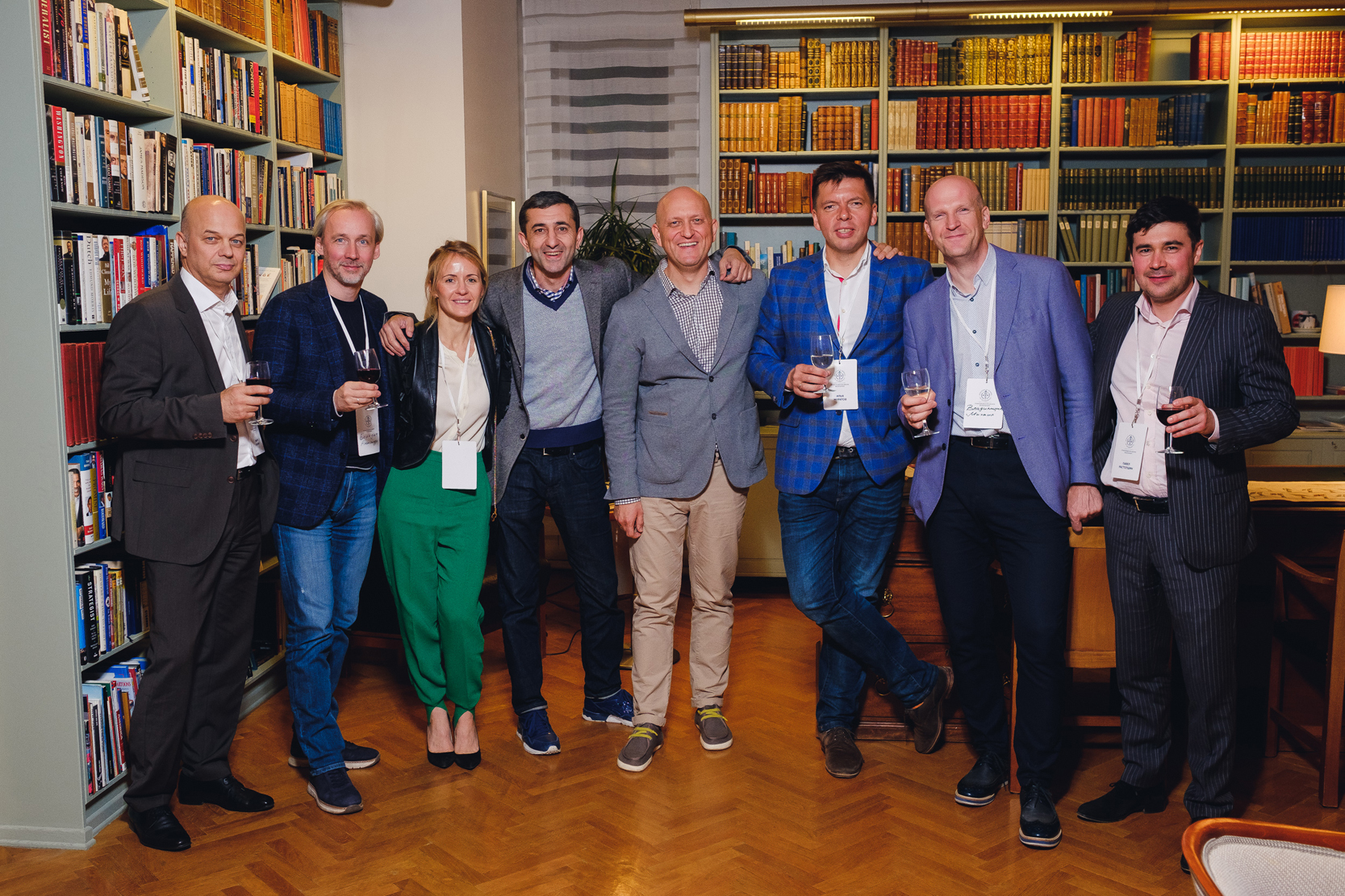 Stockholm School of Economics Russia Alumni during meeting in the Swedish Embassy in Moscow in honor of the SSE Russia Alumni Community